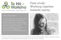 Case study: Working together towards equity