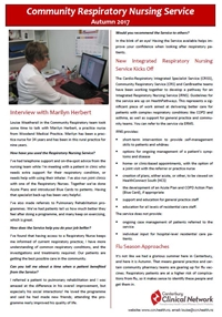 Community Respiratory Nursing Newsletter - Autumn 2017