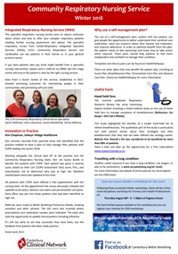 Community Respiratory Nursing Service newsletter - Winter 2018