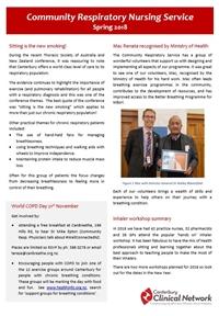 Community Respiratory Nursing newsletter