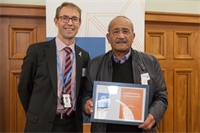 Instrumental and inspiring volunteer recognised by Minister