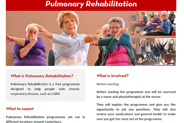 Pulmonary Rehabilitation flyer