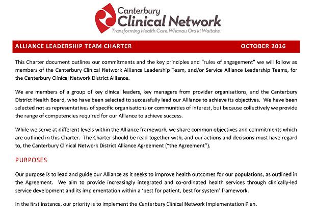 Alliance Charter