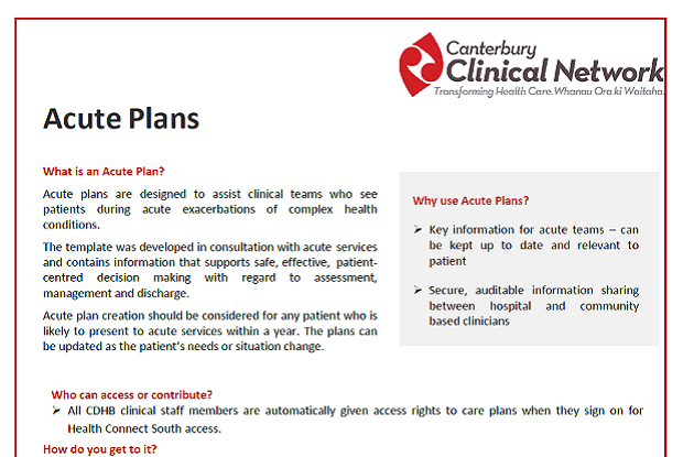 Acute Plan tips and tricks