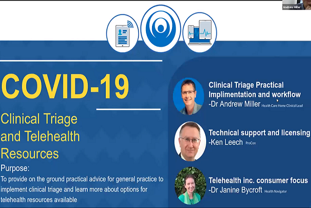 Triage and telehealth: webinar