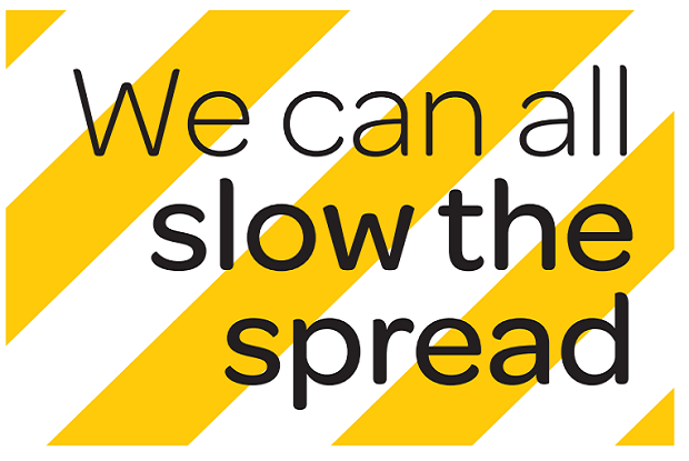 Slow the spread posters