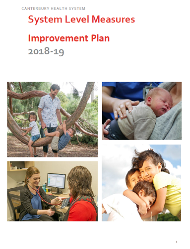 18/19 Improvement Plan Cover