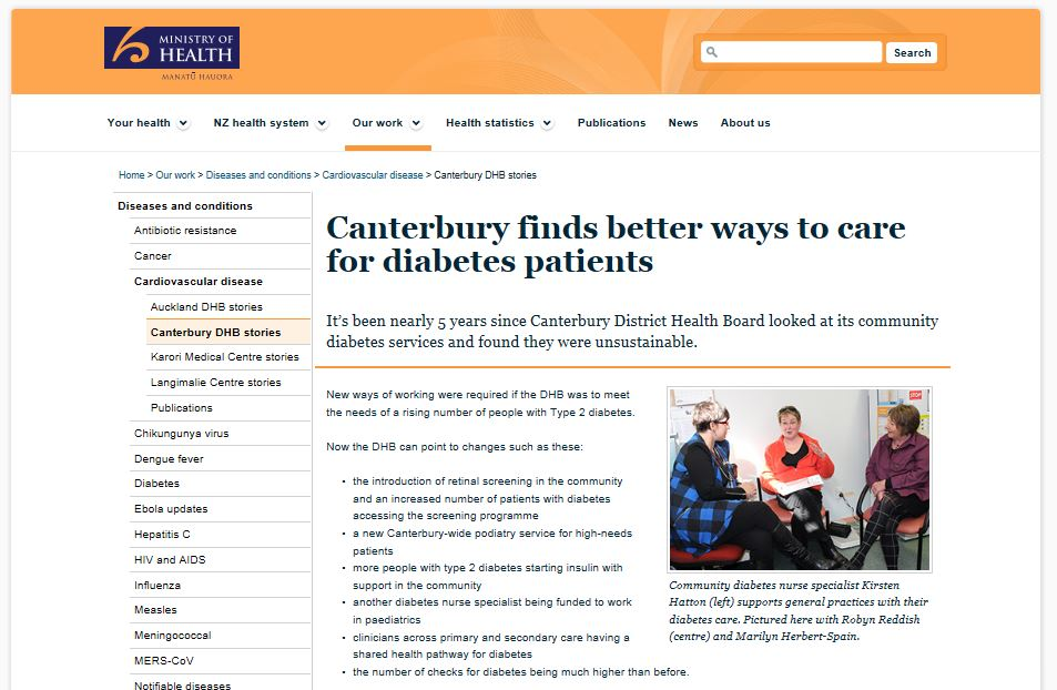 Canterbury finds better ways to care for diabetes patients