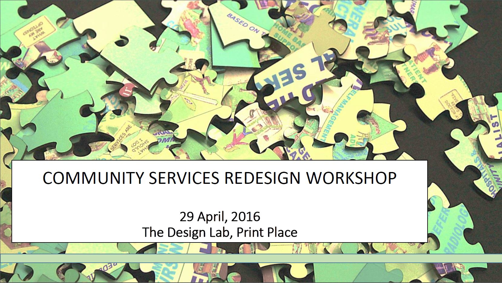 Community Services Redesign Workshop